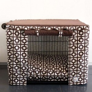 Lattice Crate Cover and Pet Bed From Front Gate